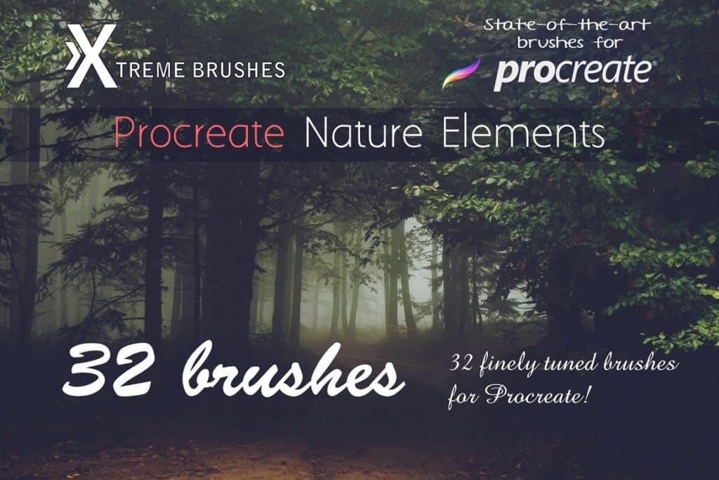 Procreate Nature Elements Brushes