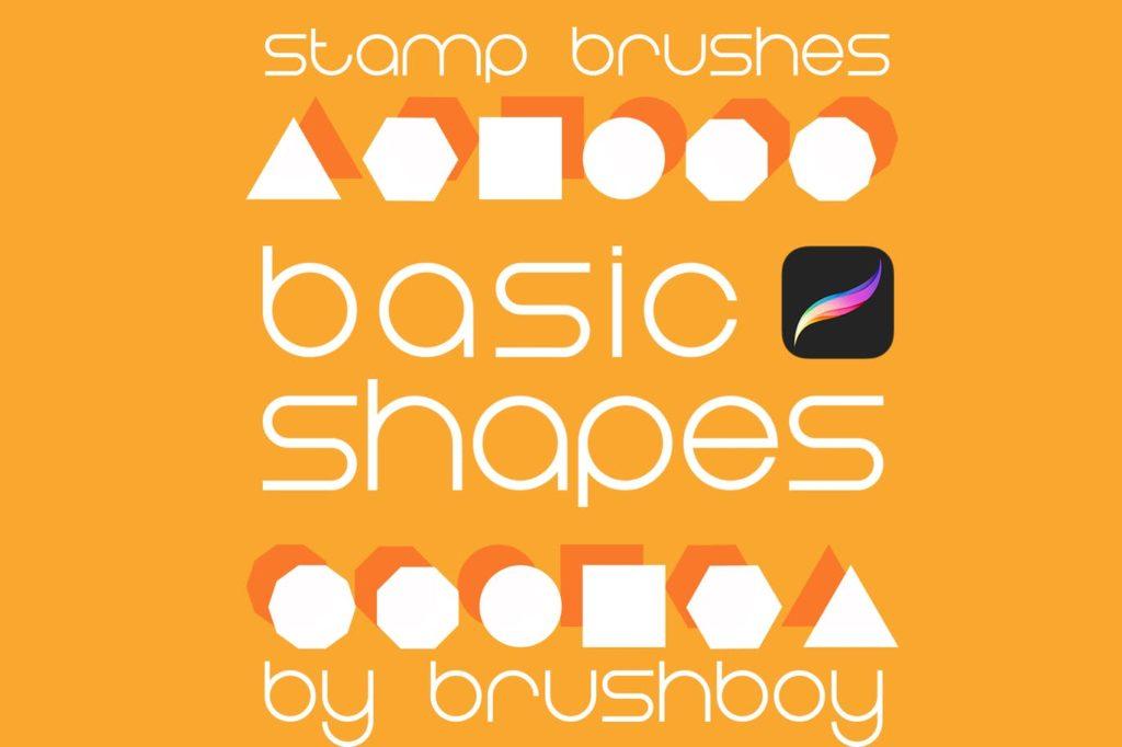 Procreate Stamp Brushes - Basic Shapes