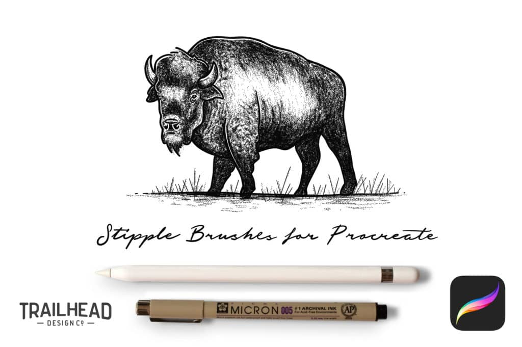 Procreate Stipple Brush Set