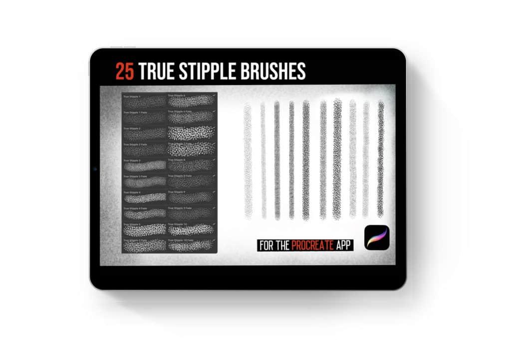 Procreate Tattoo True Stipple Brush Set