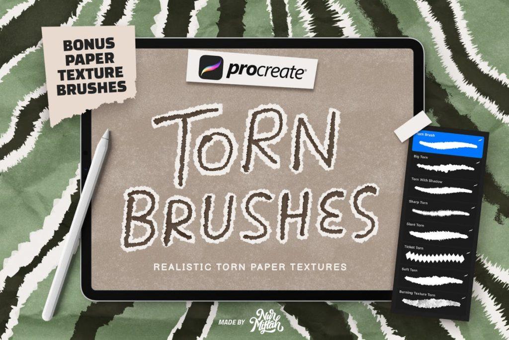 Procreate Torn Brushes