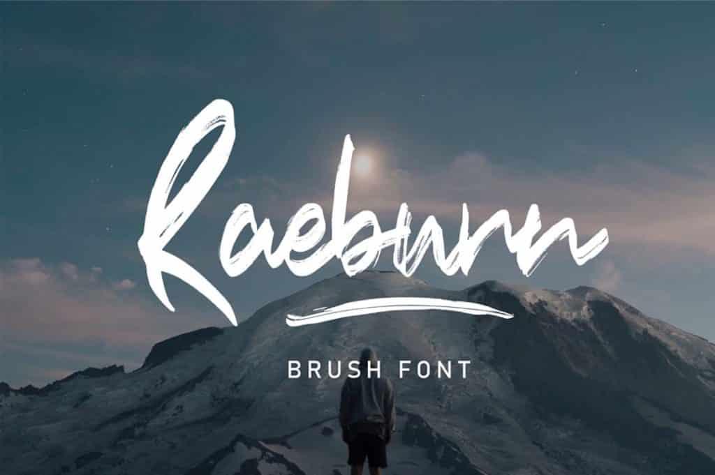Raeburn Brush Font