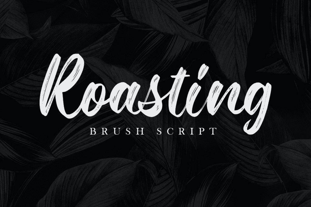 Roasting Brush Script Font