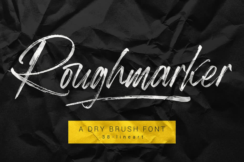 Roughmarker – Hard Brush Font