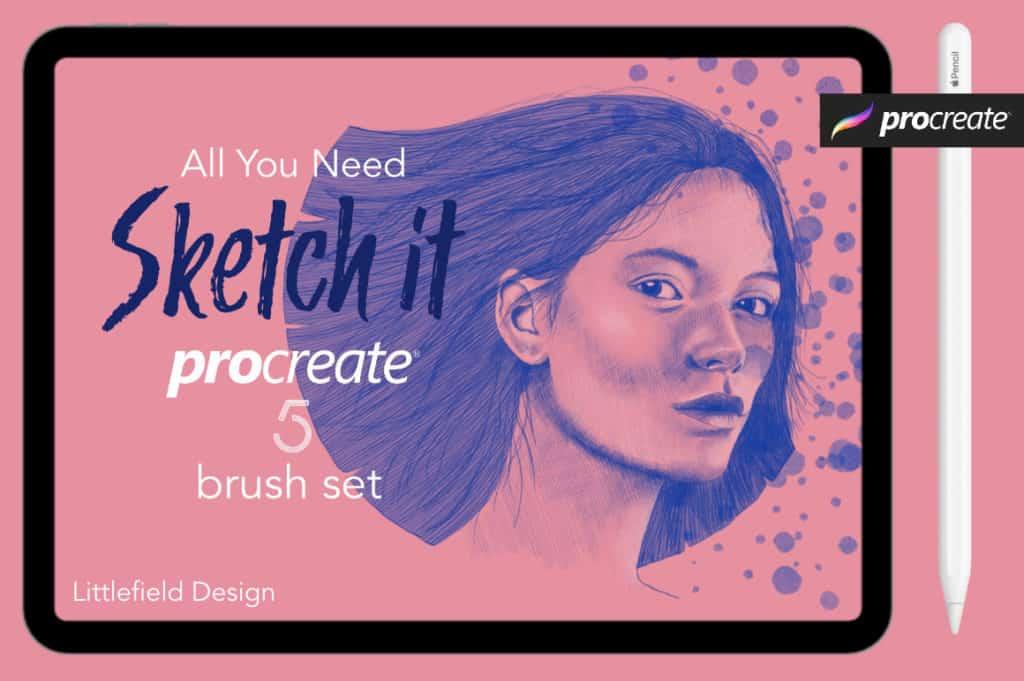 Sketch It Procreate 5 Brush Set