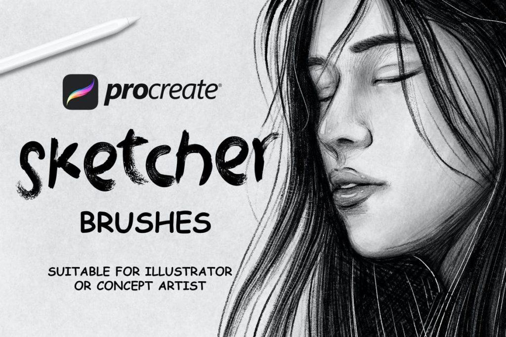 Sketcher Brushes - Procreate Brush