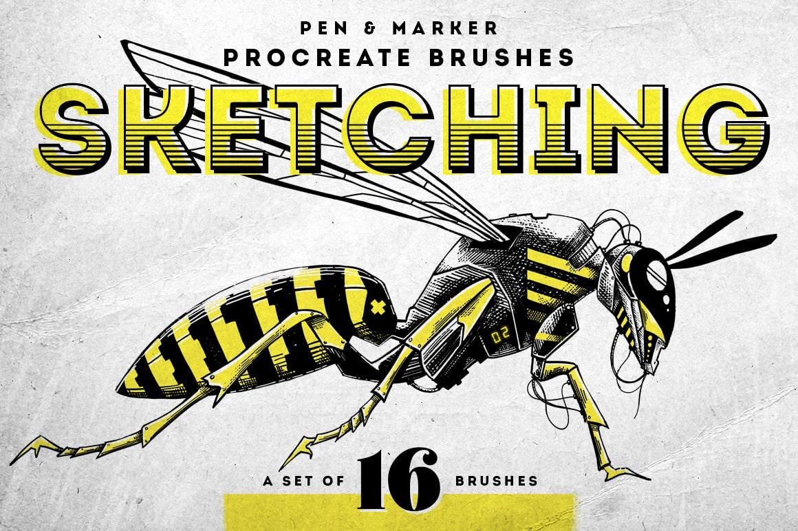 Sketching Procreate Brushes