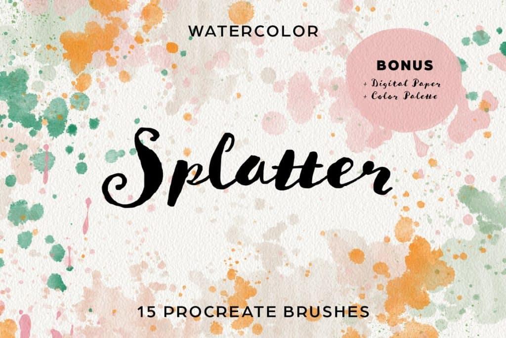 Splatter & Speckle Procreate Brushes