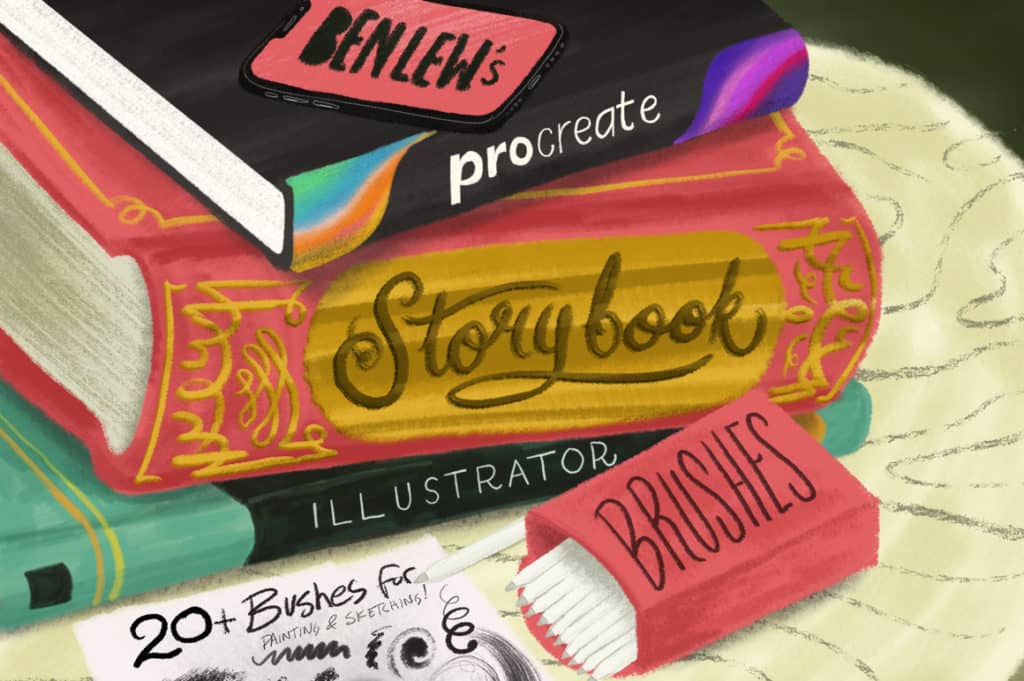 Storybook Illustrator Brushes for Procreate