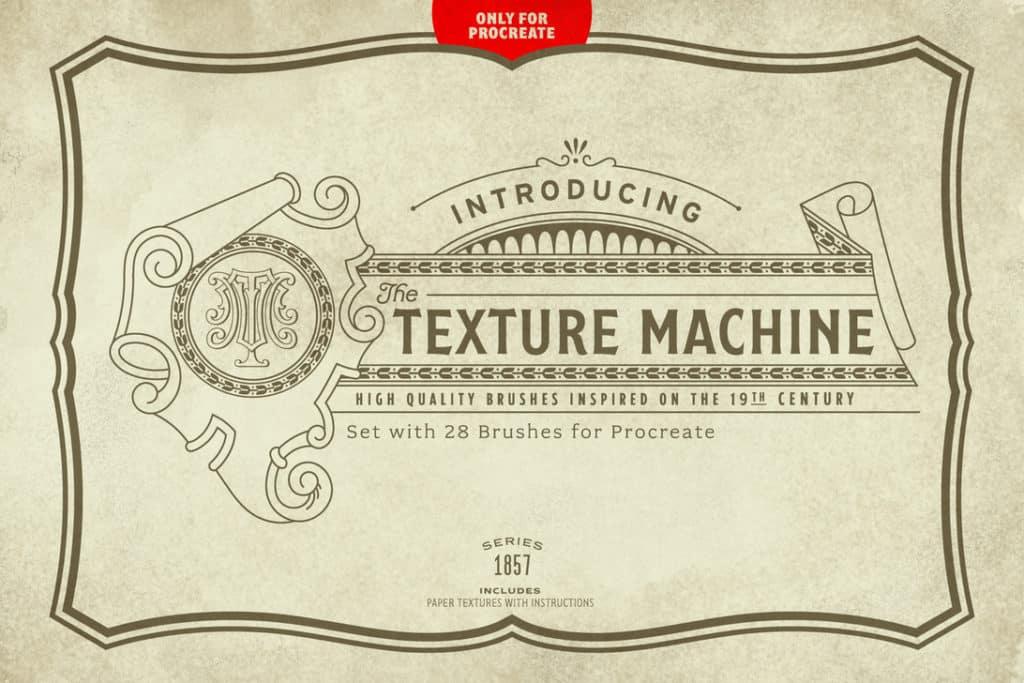 The Texture Machine Brush Set for Procreate