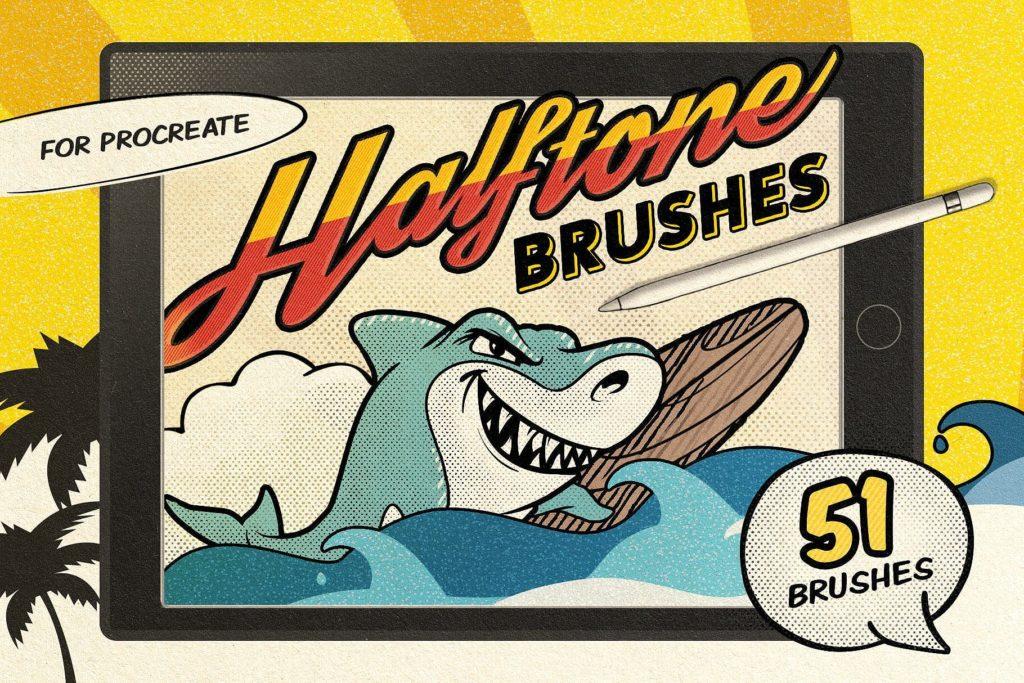 Vintage Comic Procreate Brushes