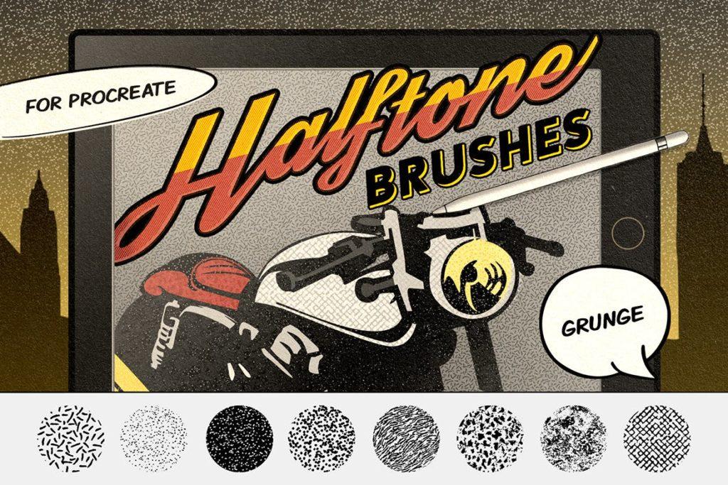 Vintage Comics- Grunge Procreate Brushes