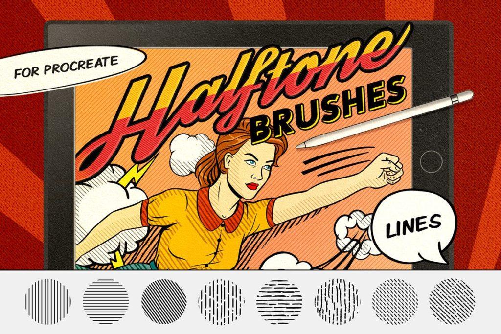 Vintage Comics- Line Procreate Brushes