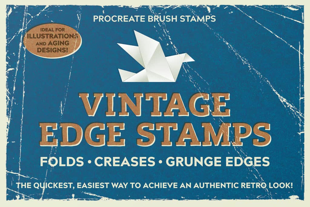 Vintage Edge Stamp Brushes – Procreate