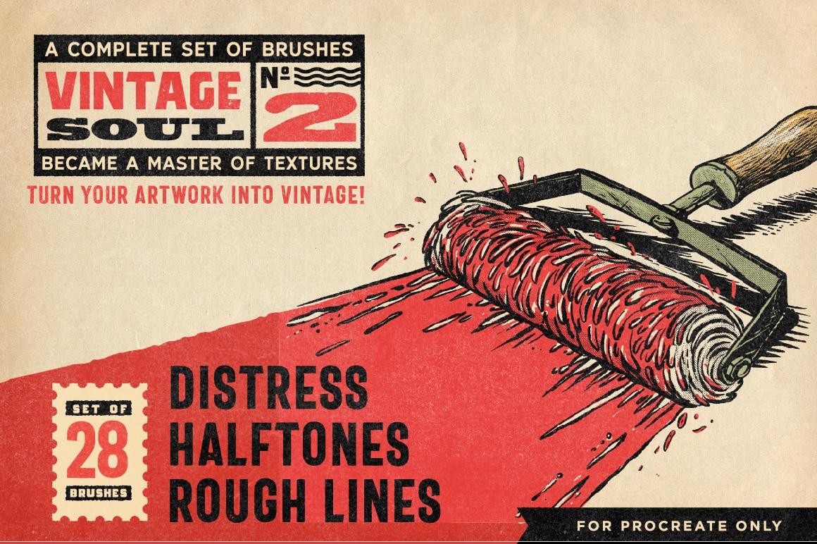 Vintage Soul Procreate Brushes V2