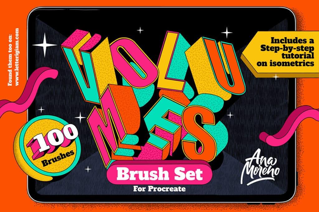 Volumes Brush Set for Procreate