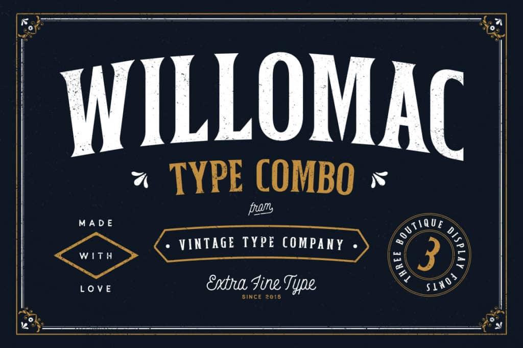 Willomac Hipster Font Combo