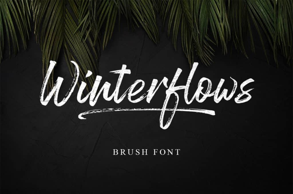 Winterflows Brush Font