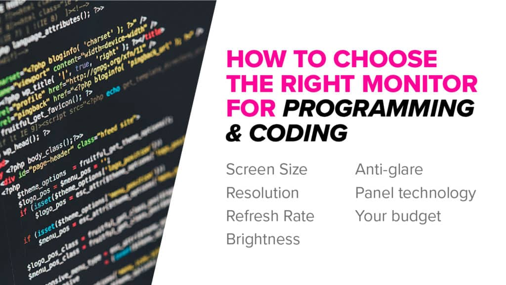How to buy a monitor for programming & coding