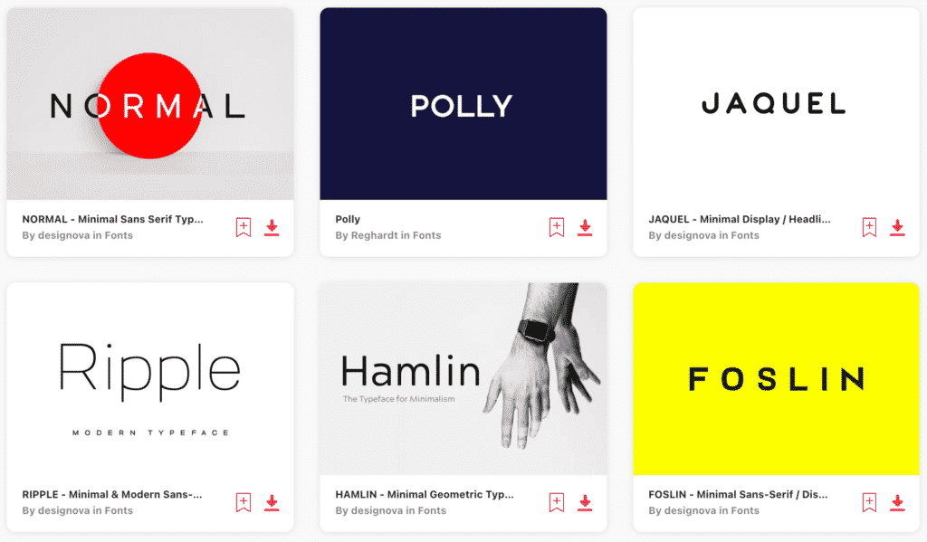 Clean and Minimal Logo Design Fonts on Envato