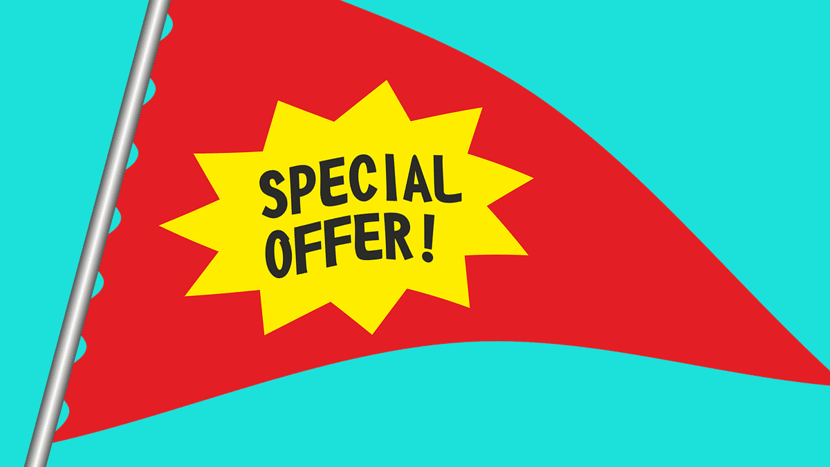 Special offer flag - How To Use Offers To Build Brand Identity