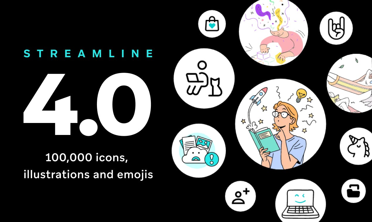 Streamline 4.0 - Icons and Illustration Pack