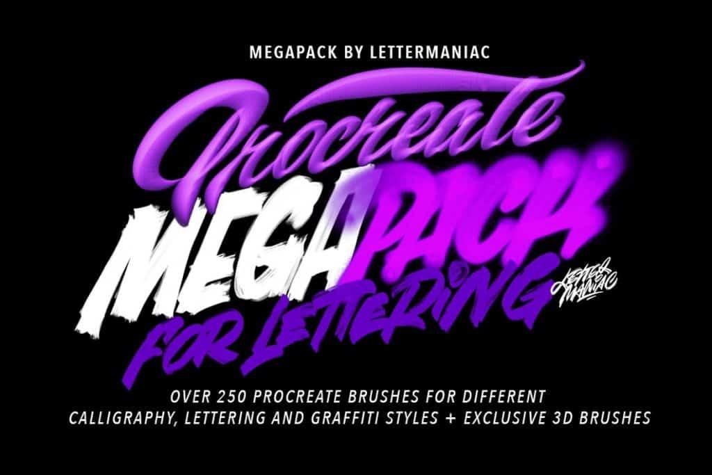 312 PROCREATE BRUSHES MEGAPACK