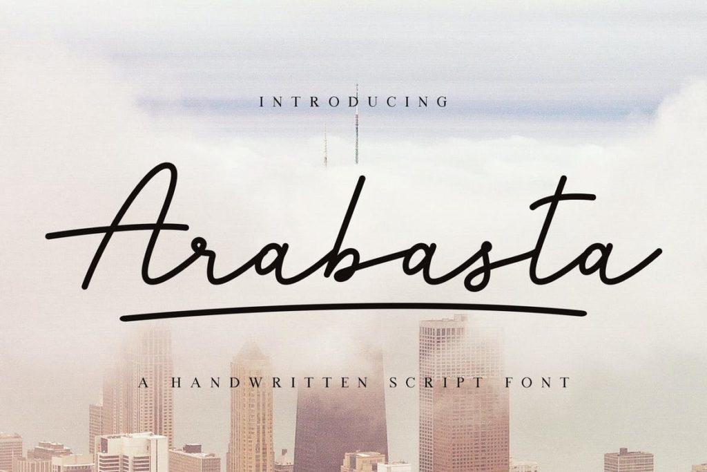 Arabasta Signature Font