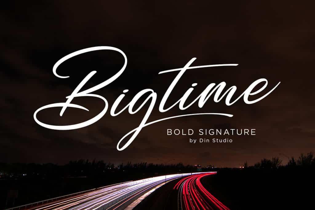 Bigtime – Bold Signature Font