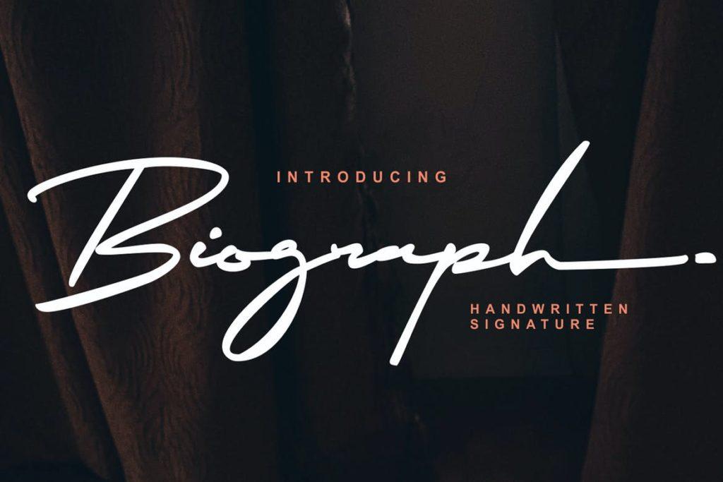 Biograph Signature Font