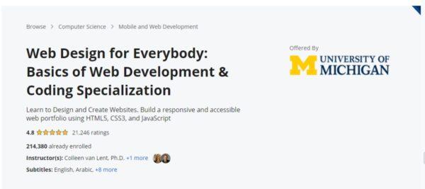 Coursera - Web Development and Coding Specialization