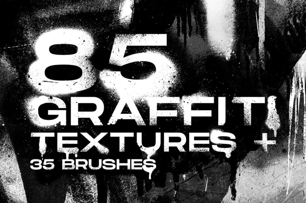 Graffiti Textures and Procreate Brushes