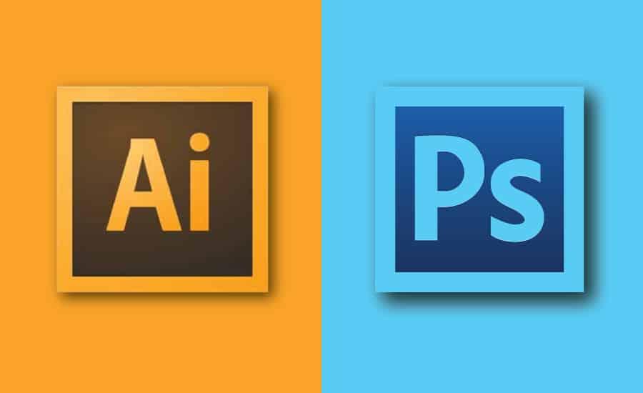 Illustrator and Photoshop