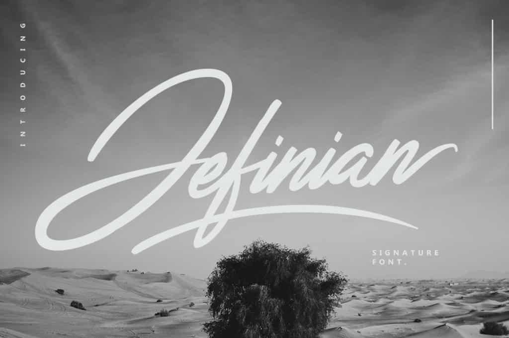 Jefinian Script Signature Font