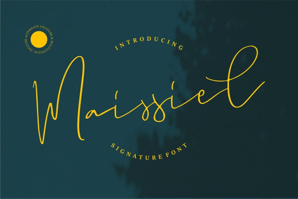 Maissiel | Signature Font