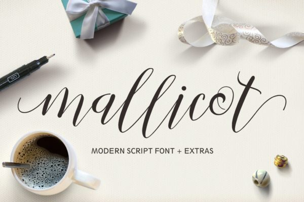 Mallicot - Mordern Script Font