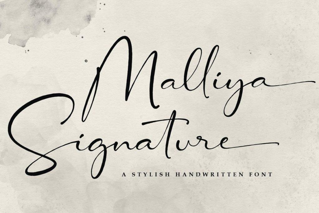 Malliya Signature Font