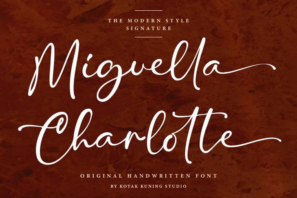 Miguella Charlotte – Signature Font