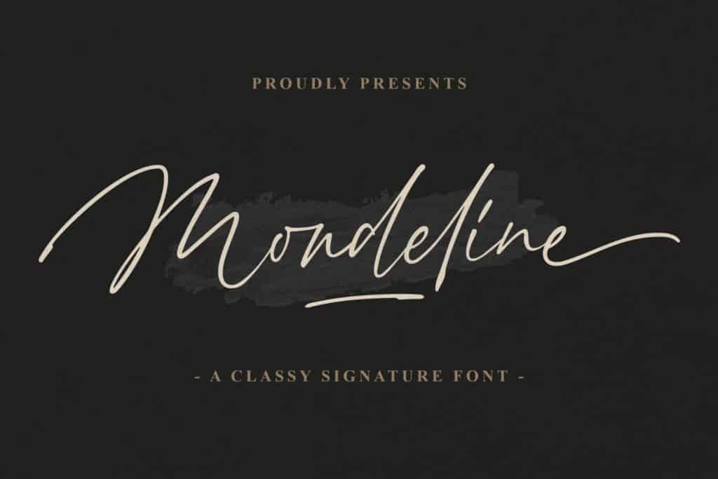 Mondeline Signature Font