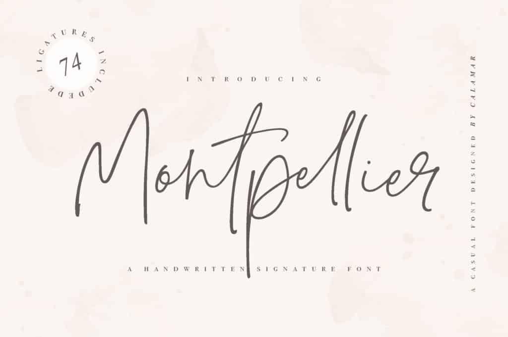 Montpellier – Signature Font