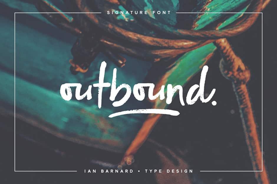 Outbound Signature Font