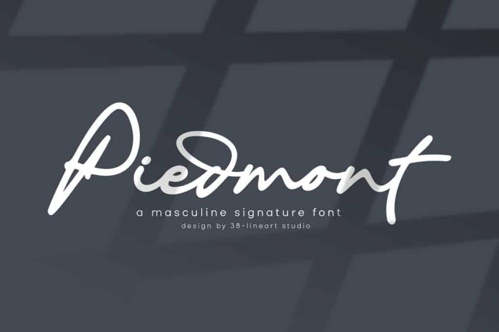 Piedmont – Masculine Signature Font