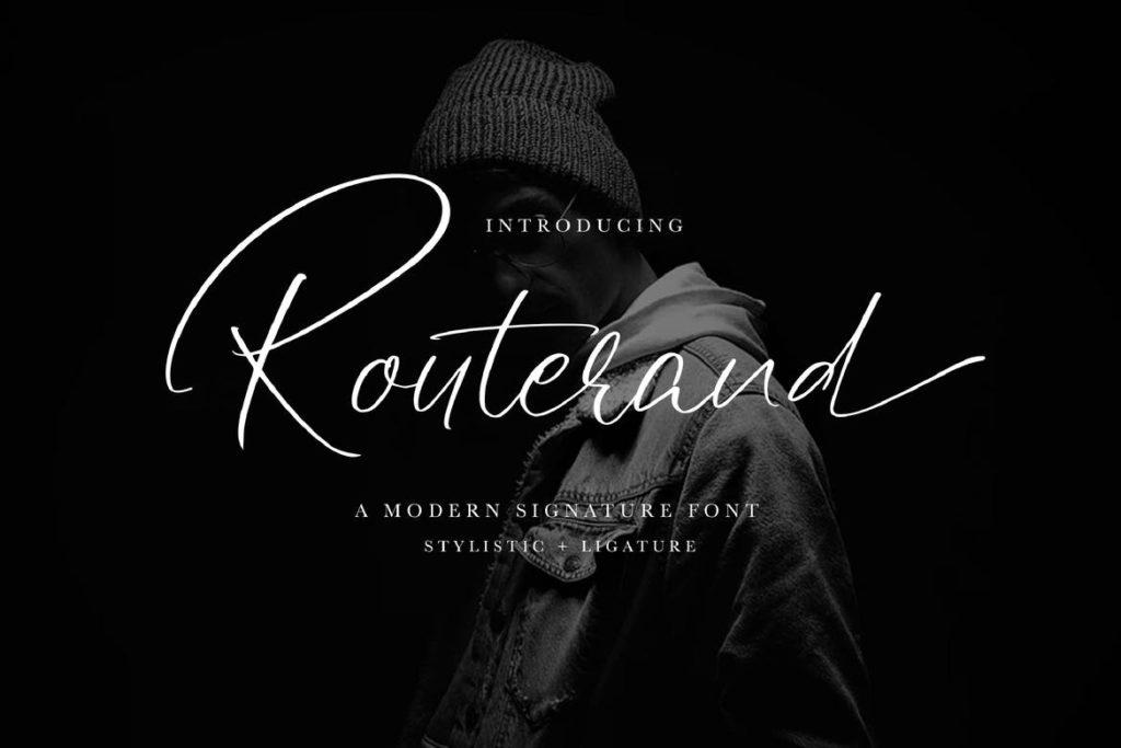 Routerand - Signature Font