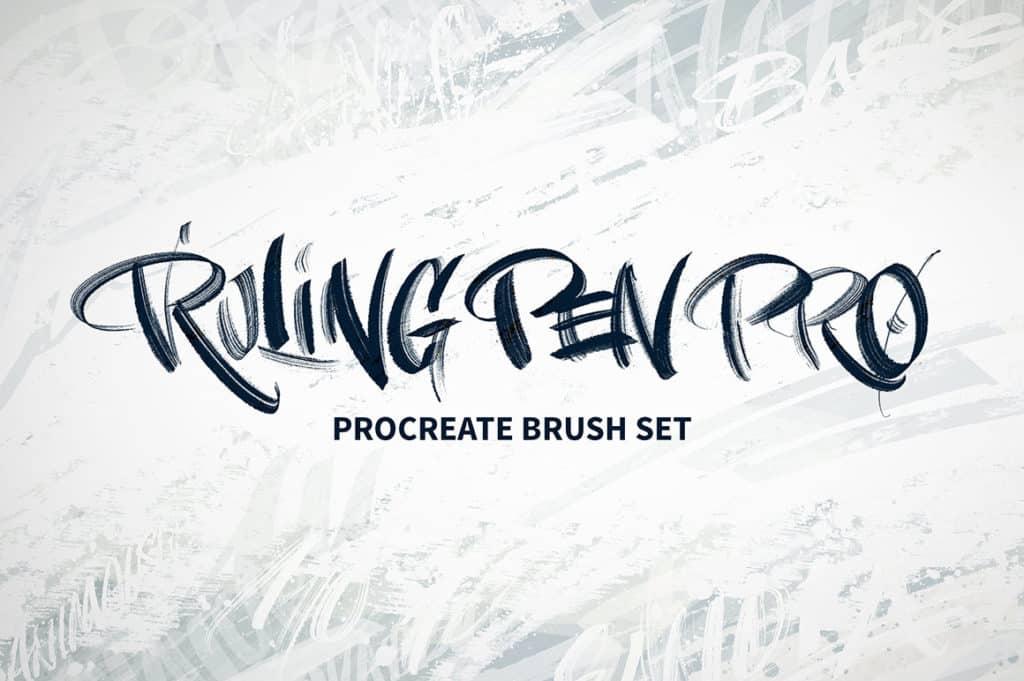 Ruling Pen Pro Procreate Brush Set