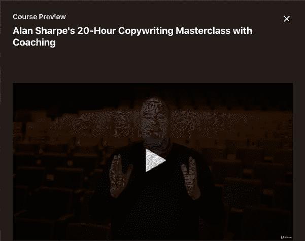Alan Sharpe's 20-Hour Copywriting Masterclass with Coaching