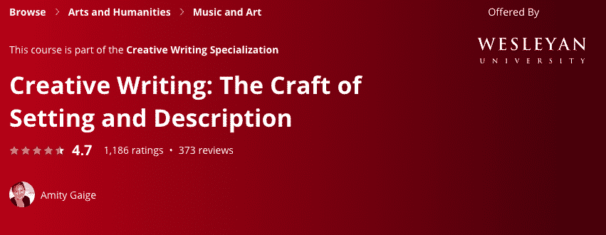 Creative Writing: The Craft of Setting and Description