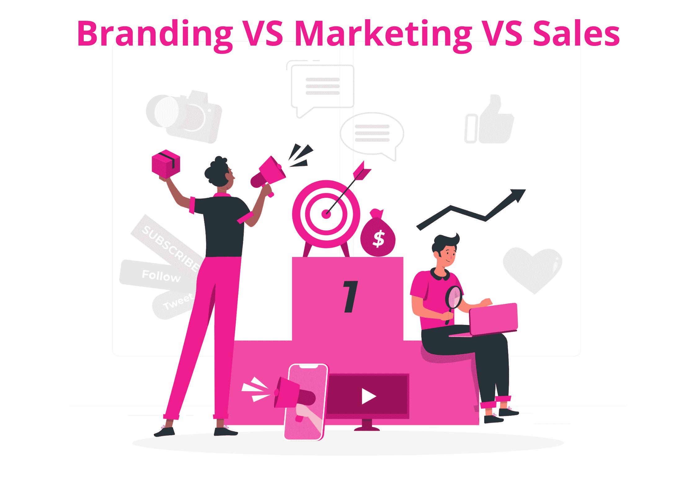 Branding VS Marketing VS Sales
