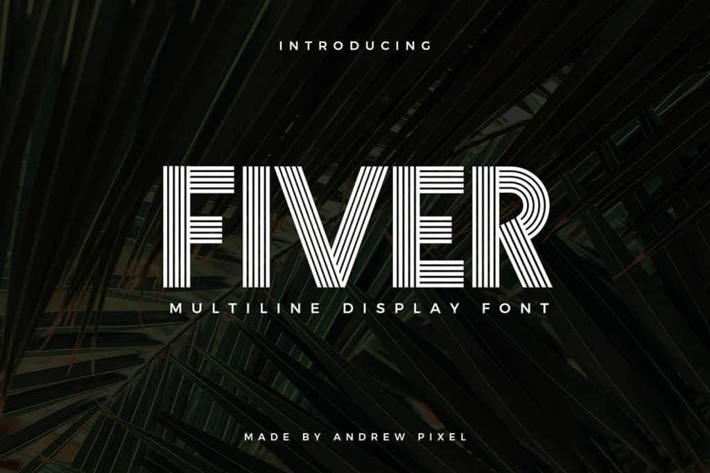 Fiver – Multiline Display Font
