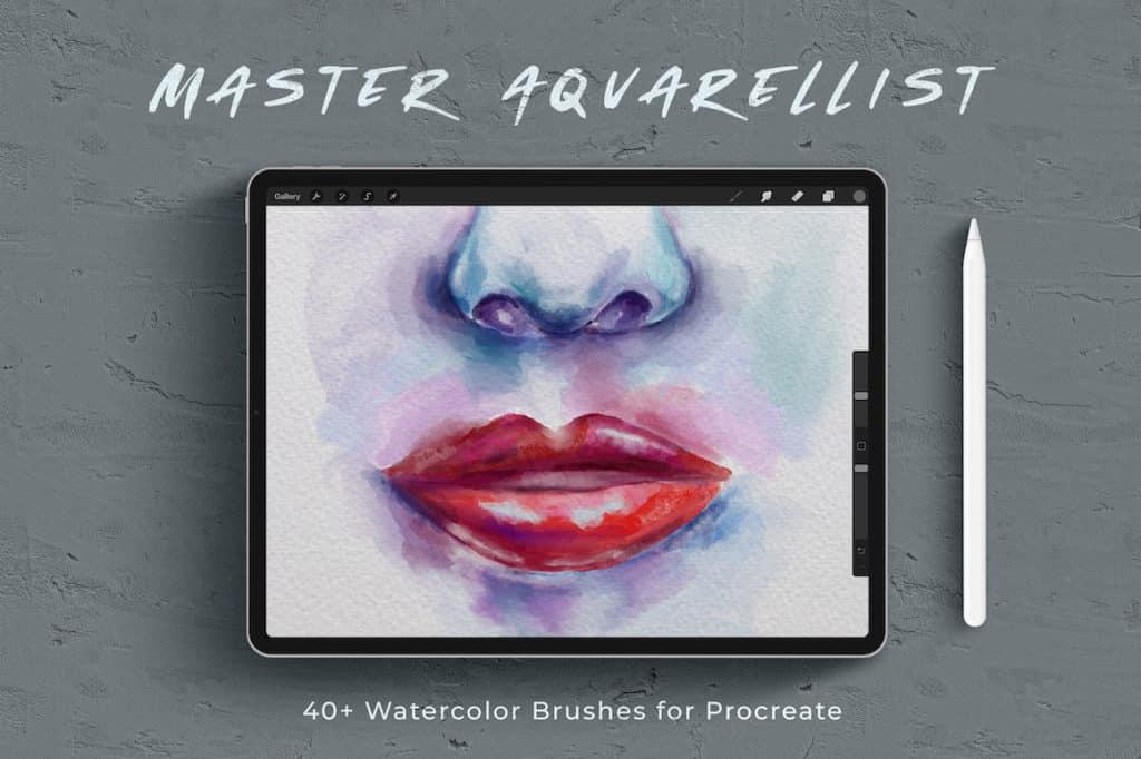 Master Aquarellist Procreate Watercolor Brushes