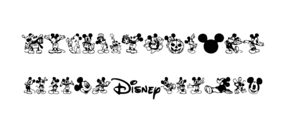 Mickey Mousebats Font